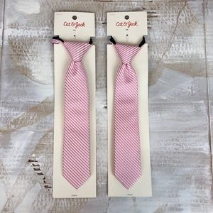 NWT Cat & Jack kid's ties set of two pink S/M
